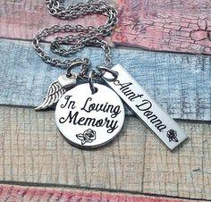 Memorial Jewelry In Loving memory Memorial necklace
