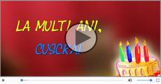 Felicitari muzicale de zi de nastere pentru Cuscra | felicitarimuzicale.com Symbols, Letters, Icons, Fonts, Letter