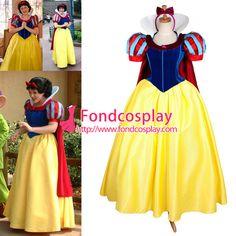 "Free Shipping Disney ""Snow white"" Princess dress Cape Movie Costume cosplay…"