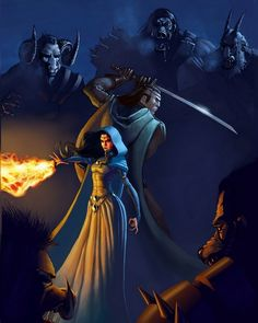 Robert Jordan - Wheel of Time Art :: Jeremy Saliba, artist :: Lan and Moiraine