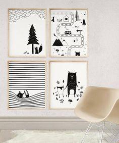 Kubem Studio // Scandinavian kids room decor Source by deliaciousdesign . Kids Room Art, Kids Bedroom, Art For Kids, Animal Nursery, Nursery Art, Nursery Decor, Scandinavian Kids Rooms, Room Posters, Animal Decor