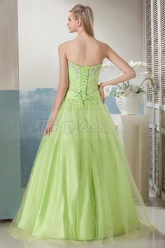 New A-Line Floor-Length Strapless Beading Luba's Prom Dress