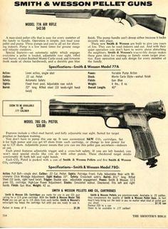 1972-Print-Ad-Smith-amp-Wesson-S-amp-W-Model-77A-Air-Rifle-78G-CO2-Pistol-Pellet-Gun