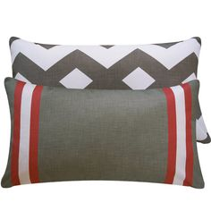 Gray Red Pillow Cover 12x20 Decorative by ChloeandOliveDotCom, $36.00