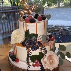 This beautiful cake was created from scratch by the bakers and decorators at Buehler's bakery!