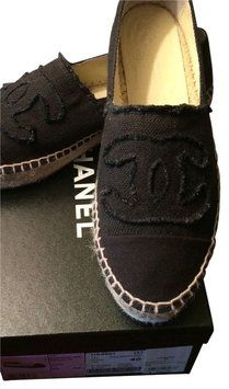 Chanel Black Canvas Espadrilles Flats. Get the must-have flats of this season! These Chanel Black Canvas Espadrilles Flats are a top 10 member favorite on Tradesy. Save on yours before they're sold out!