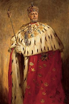 Portrait of Oscar II of Sweden (1829-1907) by Oscar Björck (1860-1929).... King of Sweden from 1872 until his death and King of Norway from 1872-1905....