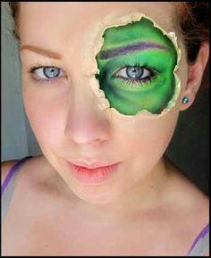 Halloween Hulk makeup
