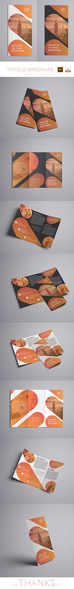 Trifold Brochure Template Vector EPS, AI Illustrator