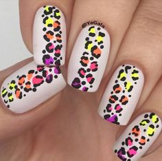 Colorful Leopard Nail Art