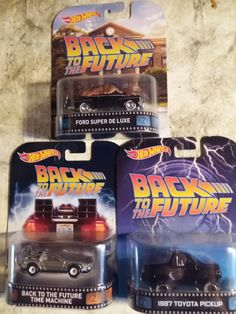 Hotwheels back to the future movie cars from 2014...
