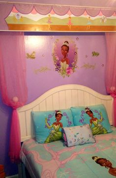 Bedroom Decor Ideas And Designs: How To Decorate A Disneyu0027s Princess Tiana  Themed Bedroom (The Princess And The Frog) | Baby Girl Room | Pinterest ...