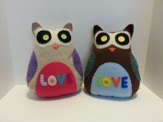 """extra large """"love"""" owls"""