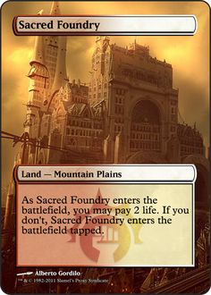 Magic The Gathering Sacred Foundry Proxy