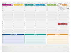 Vendita e fornitura di Base da tavolo gigante non datata.   Planning settimanali…