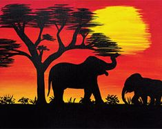 Social Artworking: African Sunset I