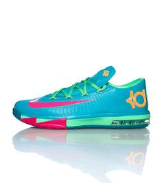 NIKE Kevin Durant Low top kids sneaker Zig zag design lace closure  Cushioned tongue with logo
