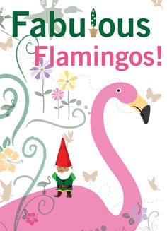 Christmas flamingo and gnome!