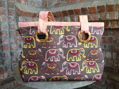 Quilted Elephant Shoulder Bag by AlSoBags on Etsy, $46.00