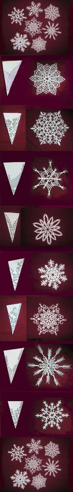 How to make beautiful Snowflakes Paper craft DIY tutorial instructions / How To Instructions