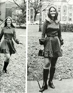 Retrospace: Mini Skirt Monday Minis and Boots 70s Outfits, Vintage Outfits, 1960s Fashion, Girl Fashion, Girls Slip, Sexy Halloween Costumes, Famous Girls, I Love Girls, Vintage Skirt