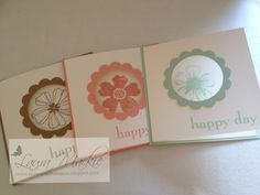 Flower Shop stamp set. CAS Clean and Simple. card set. Stampin Up! Ideas & Supplies
