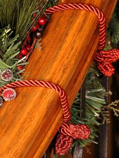 These Decorative Garland Ties keep your garlands in place without interrupting your Christmas decor.