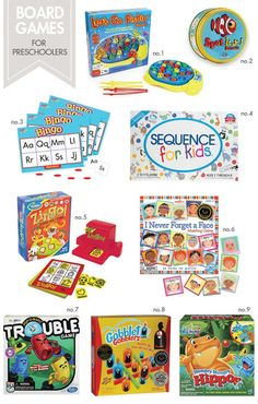 Board Games for Preschoolers