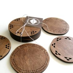 wood on wood to protect...the wood! #coaster #wood