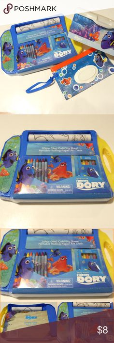 ⚡️SALE! BRAND NEW 3 Piece Finding Dory 🐠 Set! ALL BRAND NEW/ NEVER USED! If you 💙 Finding Dory or you're just into that gorgeous underwater theme with those beautiful colors... You'll 💚 this for your little one! My little one is 3 but we still carry/ use baby wipes. They are so useful & these cute cases are just perfect for them! (No filter on all pics) 🐠🐟💚💙🐳🐬💙💚 Open to offers. Disney Other