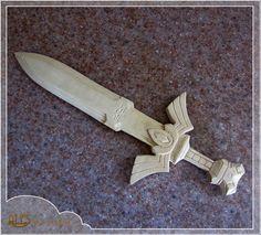 Master Sword - Legend of Zelda, hand carved 12'' fan art, fully 3D wood carving, a unique decoration, gift for him, gift for her