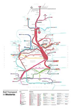 Game Of Thrones Subway Maps - Design - ShortList Magazine