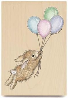 Bunny and balloons.