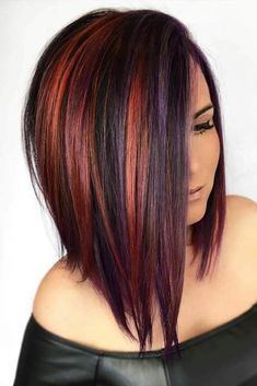 colour combined hair style
