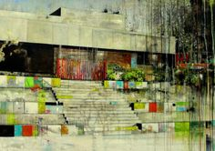 "Saatchi Art Artist Carola Schapals; Painting, ""House with a sence of rythm"" #art"