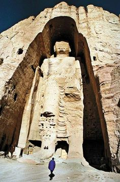 Spread of Buddhism- Buddha found in Bamiyan Valley, Afghanistan.