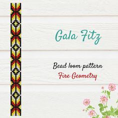 Fire geometry bead loom pattern #indian #indianpattern #beadloom #tribal #tribaljewelry #loombracelet