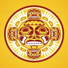 Vector Illustration of the Sun Symbol #GraphicRiver Vector illustration of the sun symbol. Modern stylization of North American and Canadian native art in traditional colors Created: 28September13 GraphicsFilesIncluded: JPGImage #VectorEPS #AIIllustrator Layered: No MinimumAdobeCSVersion: CS Tags: aboriginal #american #ancient #art #canada #canadian #design #ethnic #face #gods #graphic #haida #illustration #indian #inuit #mask #native #northwest #pacific #pattern #pole #sun #symbol #tattoo…