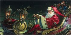 portrait of Father Christmas by Dean Morrissey