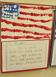 thumbprint American flags for Veterans Day