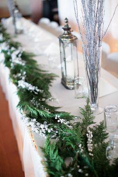 Winter wedding tablescape ideas www.MadamPaloozaEmporium.com www.facebook.com/MadamPalooza Table Decorations, Wedding Decorations, Receptions, Winter Weddings, Winter Wonderland, Wedding Flowers, Ideas, Winter Table, Home Decor