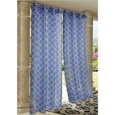 Wrought Iron Sheer Indoor/Outdoor Grommet Top Curtain Panel