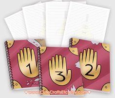Gravity Falls Notebook 1, 2 or 3 by CuteCraftsEtc on Etsy