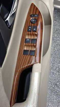 Custom wood grain finish on metal, plastic or wood