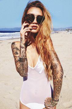 beach sleeves tattoo