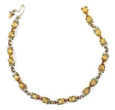 A fine Baroque gold enamel and ruby necklace, probably Italian, last quarter of 17th century