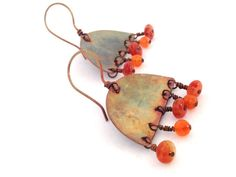 Hammered Copper Earrings  Boho Style  by WyomingHammered on Etsy