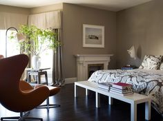 muted colour + pattern in master bedroom by cdl workshop