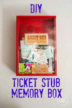 Savor the memories from your favorite shows and events by making this easy DIY Ticket Stub Memory Box!