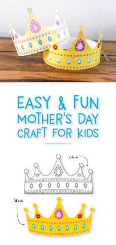 This simple mothers day activity for kids is perfect for toddlers, preschoolers and beyond! It's great classroom activity or at home, plus there are versions for Grandma, Nana, and Auntie! Mothers Day Poems, Mothers Day Crafts For Kids, Diy Mothers Day Gifts, Holiday Crafts For Kids, Fathers Day Crafts, Crafts For Kids To Make, Mother's Day Activities, Craft Activities For Kids, Preschool Crafts